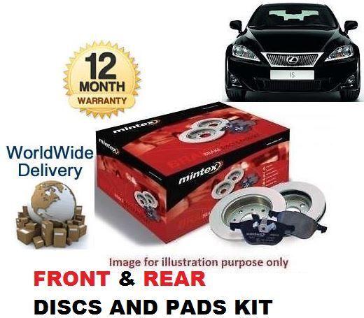 FOR LEXUS IS200D IS220D 2005> FRONT + REAR BRAKE DISCS SET & DISC PADS KIT