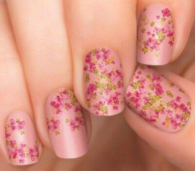 INCOCO Nail Applique Wrap Strips Made With 100% Real Nail Polish- CHERRY BLOSSOM