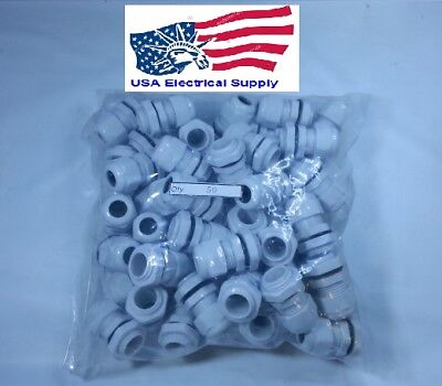 12 Npt - Strain Relief Cord Grip Cable Gland Wnut Gasket