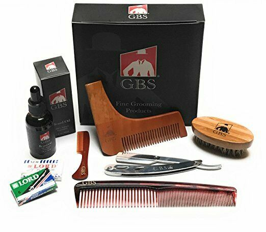 GBS 7 Piece Ultimate Shape and Style Beard Grooming Kit