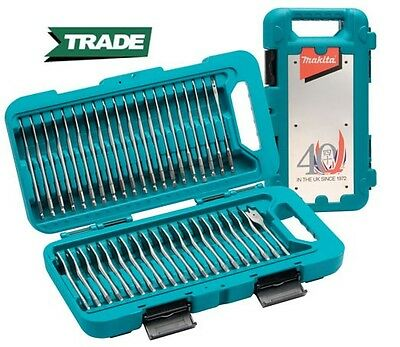 Makita P-90299 Hex Shank WOOD Flat Drill Bit Set 40 Piece - 6mm - 32mm