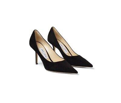 Jimmy Choo London Love 85- Black Suede Pointed Pumps High Heels- UK 8 New In Box