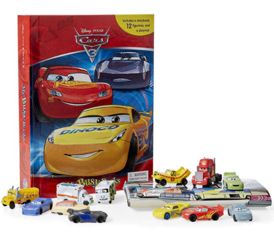BN: Disney/Pixar Cars 3 My Busy Book incl 12 figurines and a playmat