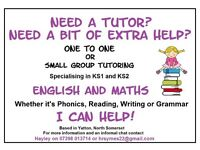 Private Tutor English Math KS1 KS2