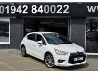 2013 62 CITROEN DS4 1.6 DSTYLE 5D 118 BHP 5DR SPORTS HATCH,38-000M SH.WHITE