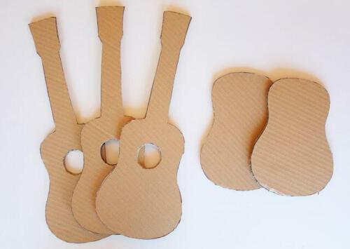 paper guitar simple cardboard box