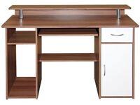 Stylish Walnut Computer Desk Home Office Workstation ***Worth £250***
