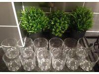 12 x glass tumblers