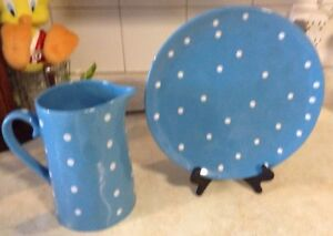 """JUG AND PLATTER IN BLUE. SPRINKLE COLLESTION""""MAXWELL & WILLIAMS Gatineau Ottawa / Gatineau Area image 3"""