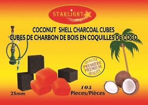New Premium large coconut charcoal cubes box of 105 pieces