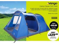Vango Icarus 500 Brand new stored indoors since ownership