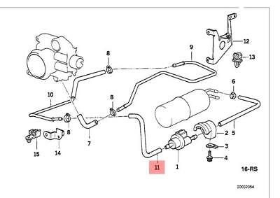 Genuine BMW E31 E38 Coupe Hose Clamp Fuel Injection Kit OEM 13531741190