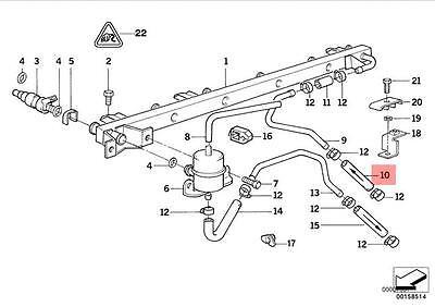 Genuine BMW E32 E34 Saloon Hose Clamp Fuel Injection Kit OEM 13311748685