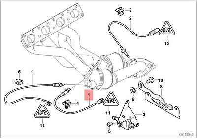 Genuine BMW E46 REGULATING Lambda Probe Oxygen Sensor 360MM OEM 11787512975