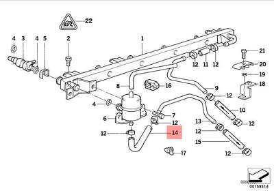 Genuine BMW E32 E34 Saloon Hose Clamp Fuel Injection Kit OEM 13311748689
