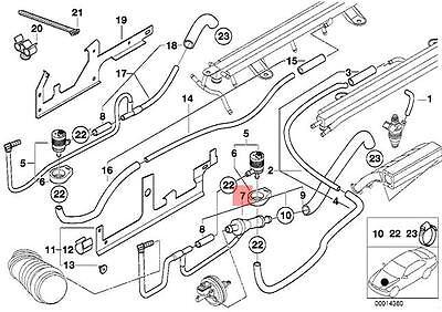 Genuine BMW E12 E23 E24 E28 Coupe O-Ring Fuel Pump Assembly OEM 16121116966