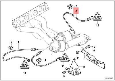 Genuine BMW E83 E83N E85 E87 Lambda Probe Oxygen Sensor 460MM OEM 11787530285
