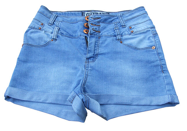 New Look Blue High Waisted Denim Shorts