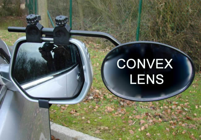 NEW UNIVERSAL CONVEX LENS TOWING EXTENSION WING MIRROR TOURING TRAILER CARAVAN