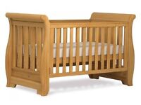 Boori Country Sleigh Cot Bed Heritage Teak