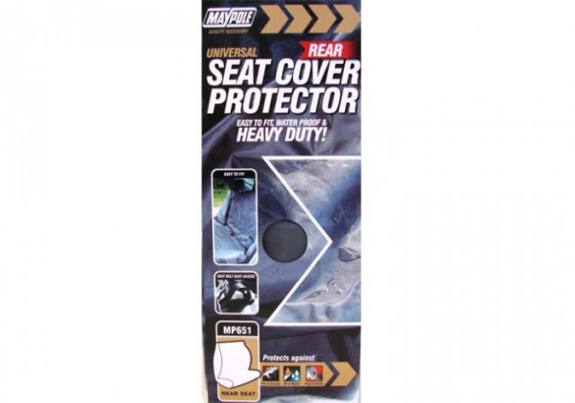 Maypole Universal Heavy Duty Rear Seat Cover Protector Car Taxi Waterproof MP651