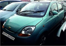 CHEVROLET MATIZ 2007 55,900 MILES 1.0 PETROL 5 DOOR HATCHBACK MANUAL BLUE
