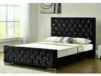 🔵SPRING SALE ON🔴CHESTERFIELD BED IN DOUBLE/KING SIZE FRAME WITH OPTIONAL MATTRESS-