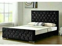 🔵💖SALE ON🔵💖CHESTERFIELD BED IN DOUBLE/KING SIZE FRAME WITH OPTIONAL MATTRESS-