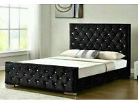 🍂luxury furniture🍂CHESTERFIELD BED IN DOUBLE/KING SIZE FRAME WITH OPTIONAL MATTRESS🍂call now