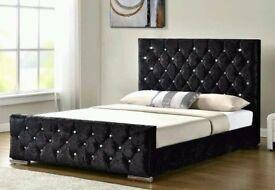 Crush Velvet diamonds bed £139