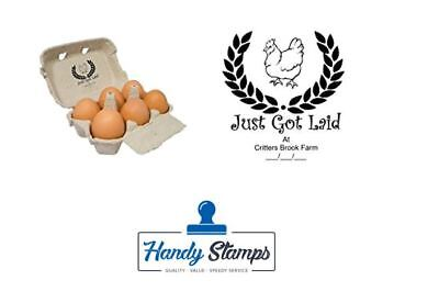 Just Got Laid Personalized Egg Box - Self Inking Stamp - 1 12 X 1 78