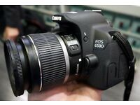 NEW Canon 650D with 18-55mm Lens + Original Canon Case (18MP, touchscreen, HD video)