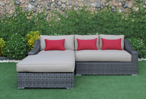 MARSEILLE WICKER SECTIONAL WITH CHAISE**Arriving Monday**