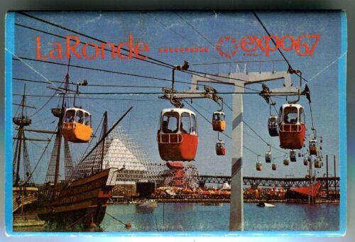 Vintage Postcard Book Expo 67 Montréal, Canada LaRonde Unposted 6 card Foldout