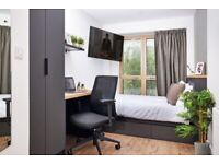 Room in the new student accommodation