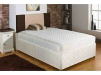 Premium Quality 4FT small double, 4FT6 double or 5FT Divan Bed + Mattress (Opt Drawers & Headboard)