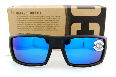 9066685fdfc New Costa Del Mar Fishing Sunglasses RAFAEL Blackout Blue Mirror 580G  Polarized