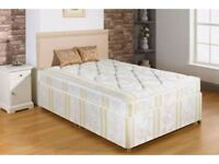 ❋❋ FAST DELIVERY ❋❋ SINGLE BED WITH MATTRESS £69 ❋❋ DIVAN BED BASE + 9 INCH DEEP QUILT MATTRESS