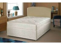 20 % SALE == SAME DAY DELIVERY --- BRAND NEW DOUBLE DIVAN BED WITH ROYAL MEMORY FOAM MATTRESS