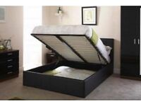 💧💧LIMITED TIME SALE 💧💧 BRAND NEW DOUBLE STORAGE LEATHER BEDS WITH WIDE RANGE OF MATTRESSES