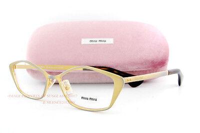 SALE!Brand New Miu Miu Eyeglass Frames MU  53LV LAF Antique Bronze Women Size (Miu Miu Eyeglass)