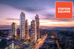 Convenient Metrotown new Station Square 2BR2BA on 28th floor