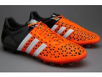 ADIDAS ACE 15.1 FG/AG - SOLAR ORANGE/WHITE/CORE BLACK (Size UK_10.5) - Worn once on astro