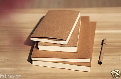 New 32K Vintage Kraft Cover Blank White Paper Sketchbook Journal Diary Note Book