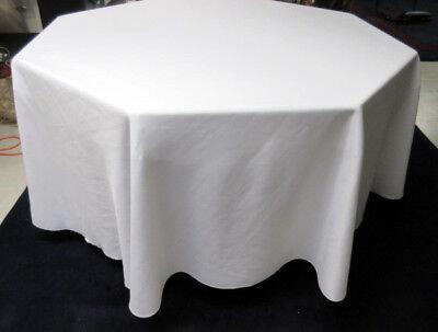 "120"" diameter WHITE Polyester Round Tablecloth For Wedding, Banquet, Restaurant"