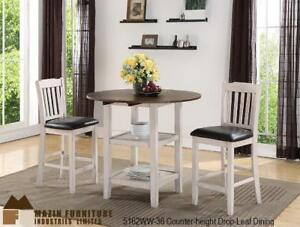 3 PC Dinette in White-wash Finish (MA298)