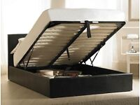 == LIMITED OFFER == King size Ottoman bed frame with SEMI ORTHOPEDIC Mattress - same day delivery