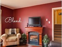 Blend. Professional Painting & Decorating. Call for a free quote.