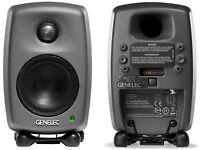 Genelec 8010A Bi-Amplified Studio Monitors (Pair) remaining 2 year Genelec Warranty