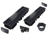 Drainage channel (All-in-one kits)   Black plastic class A15 (1.500 kg)